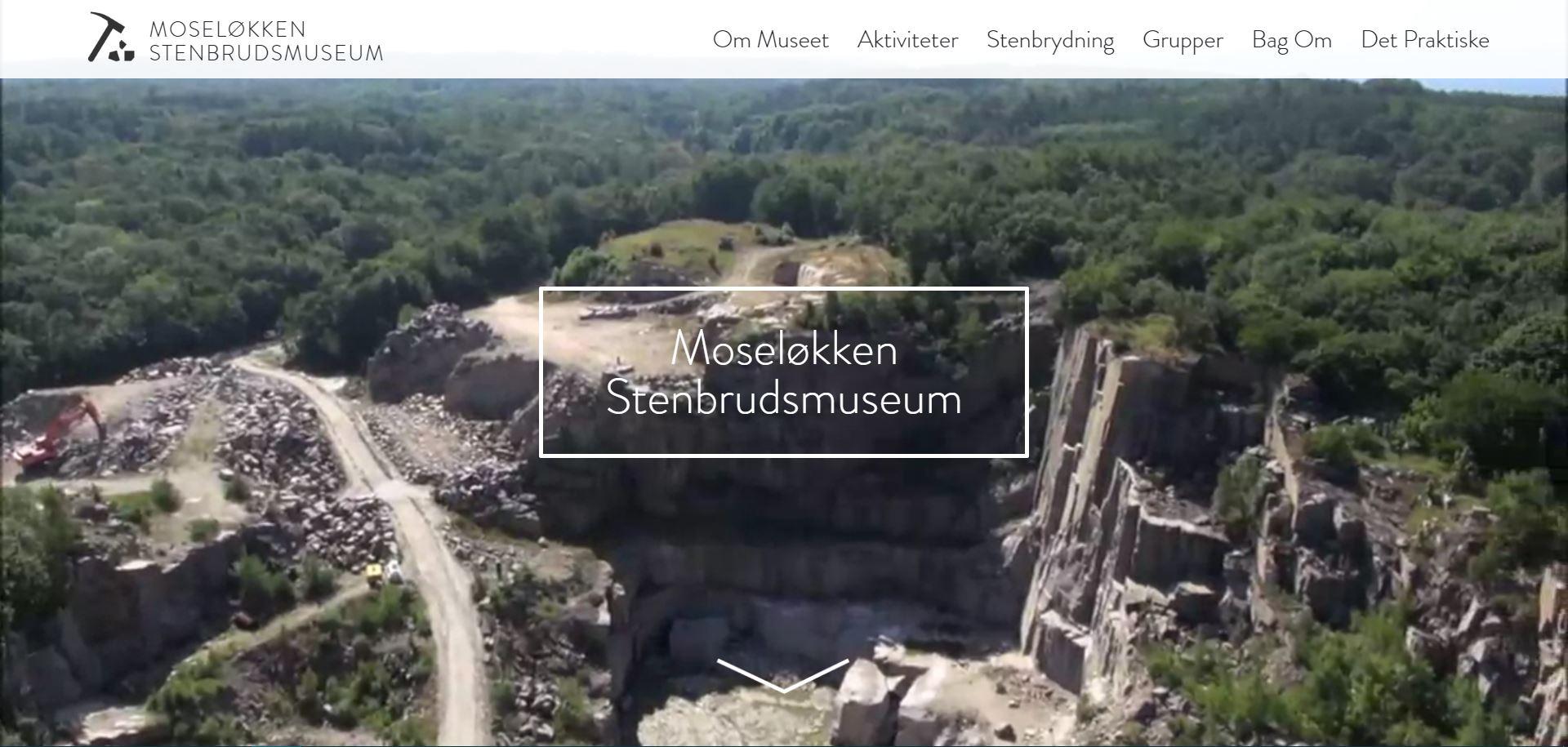 Moseløkken Stenbrudsmuseums nye hjemmeside
